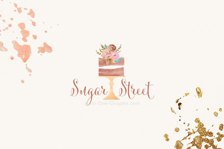 Custom Premade Logo Design for sale - with gorgeous watercolor cake & flowers would be perfect for your food blog, bakery cake company, online business or small business.  http://one-giraphe.com/prev.php?c=211  #bakery #cake #cupcake #logo #logos #logodesign #bakery #customlogo #etsy #etsylogo #designer #graphicdesign #cute #sweet #watercolor #bakerylogo #cakelogo #needlogo