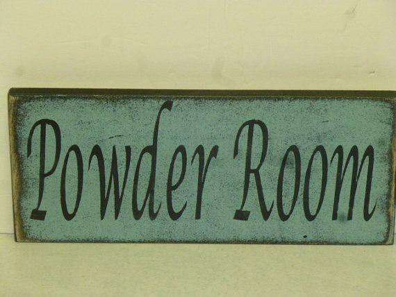 POWDER ROOM SIGN   Shabby Cottage Chic Powder Room Sign   Bathroom Sign    sign for. 26 best Powder Room images on Pinterest   Powder rooms  Bathroom