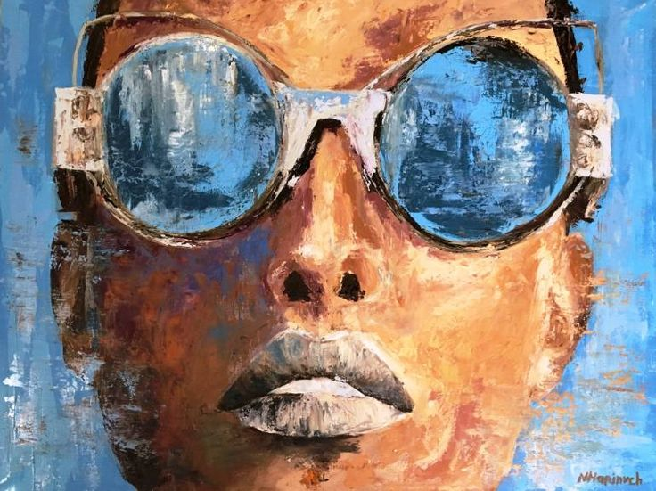 "Saatchi Art Artist Natalia Marinych; Painting, ""Skylish (Original artwork by Natalia Marinych) Painting by Natalia Marinych"" #art"