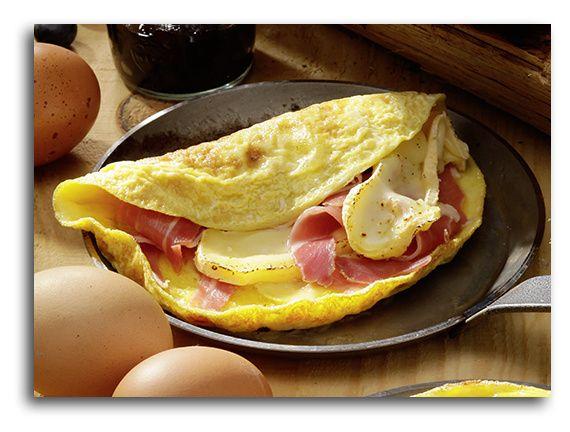 L'omelette au Reblochon et au jambon de montagne