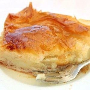 Sweet milky pie (Galaktoboureko). Find the recipe. http://www.icookgreek.com/en/recipes/item/sweet-milky-pie