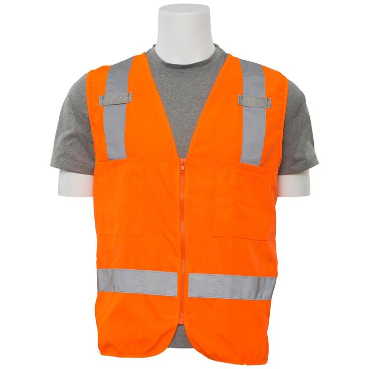 S414 M Class 2 Poly Oxford Surveyor Hi Viz Orange Vest, Size: Medium, Oranges/Peaches