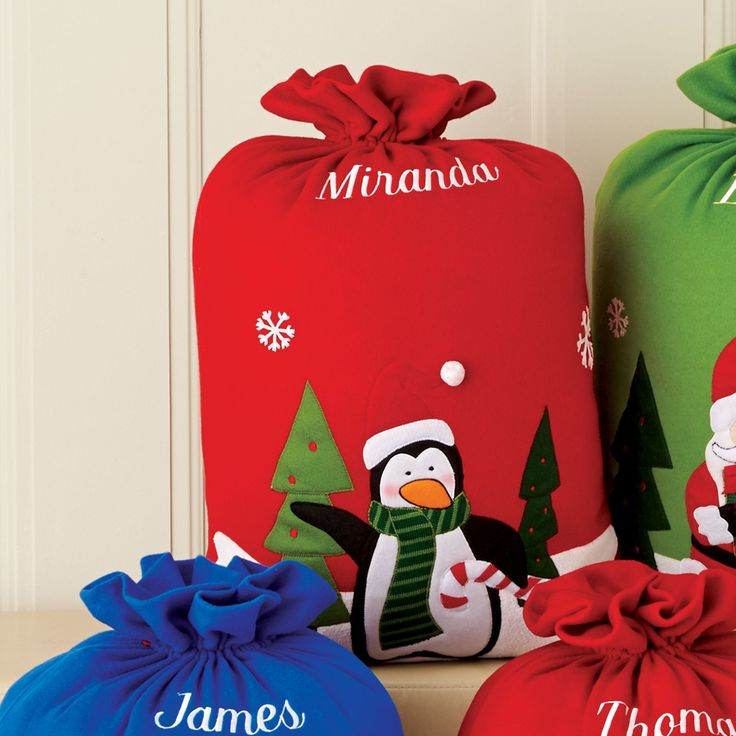 Make wrapping a breeze with this classic Christmas sack. Choose from a few festive designs and can be monogrammed. #searscanada #holidays #hosting