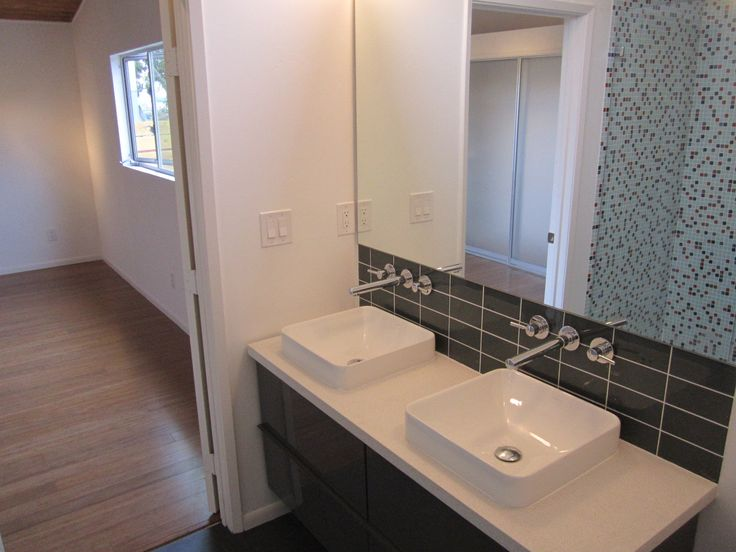 7 best mcm bathroom remodel images on pinterest modern for Mid century modern baseboard