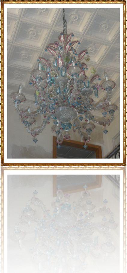 Lustre en Murano Venise XIXème siècle sur Antiquités Perrusson