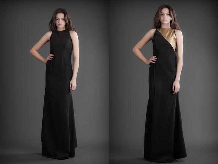2 in 1 Dress - Black & Gold