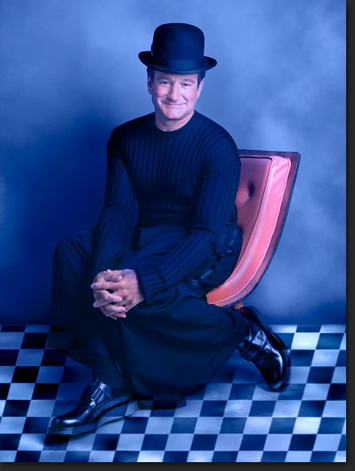 Robin Williams ~ multi-talented; he is so quick-witted and makes me laugh!
