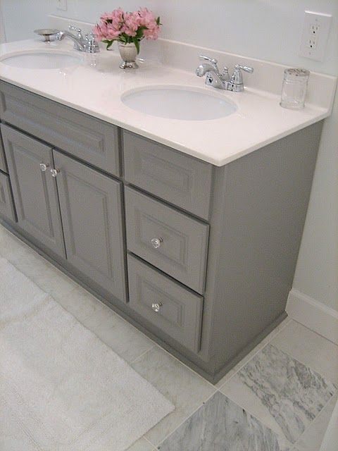 1000 ideas about grey bathroom cabinets on pinterest for Painting bathroom cabinets gray