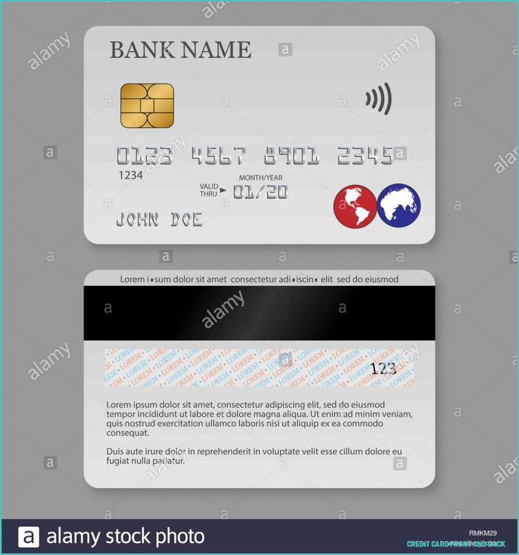 Never underestimate the influence of credit card front and
