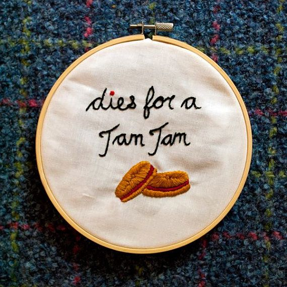 Dies for a Jam Jam 6 inch hand embroidery hoop by ModernNan Newfoundland embroidery art