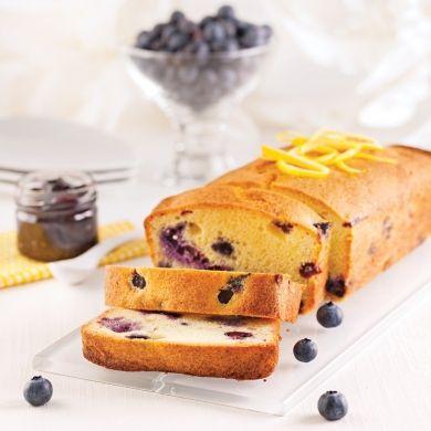 Quatre-quarts marbré aux bleuets - Desserts - Recettes 5-15 - Recettes express 5/15 - Pratico Pratique