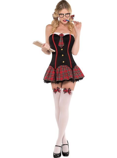 Adult Nerdy  Flirty Schoolgirl Costume 4499 - Party -7136