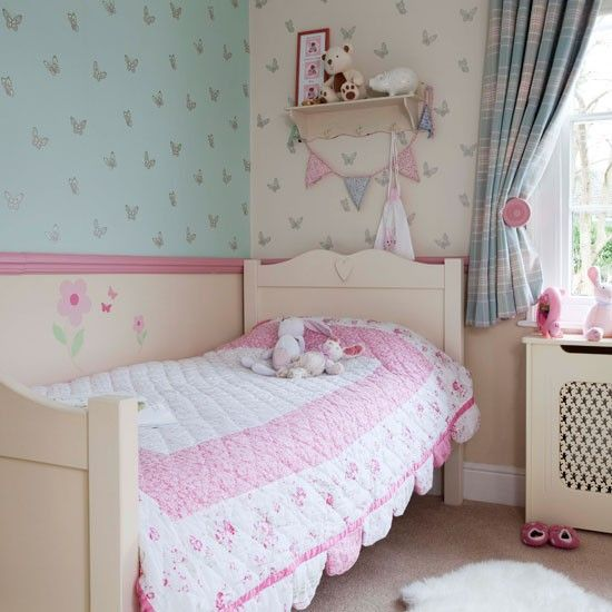 Girls floral bedroom | Take a tour of this 19th Century Victorian villa | housetohome.co.uk