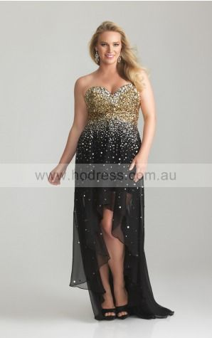 Zipper Asymmetrical Empire A-line Chiffon Formal Dresses ahza307014--Hodress