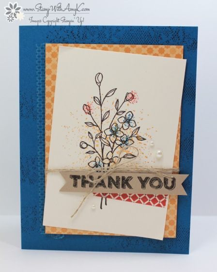Stampin' Up! Touches of Texture Thank You Cards