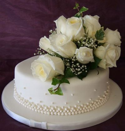 130 best Single Layer Wedding Cakes images on Pinterest | Conch ...