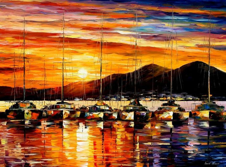 ITALY NAPLES HARBOR - VESUVIUS by Leonid Afremov by Leonidafremov.deviantart.com on @DeviantArt