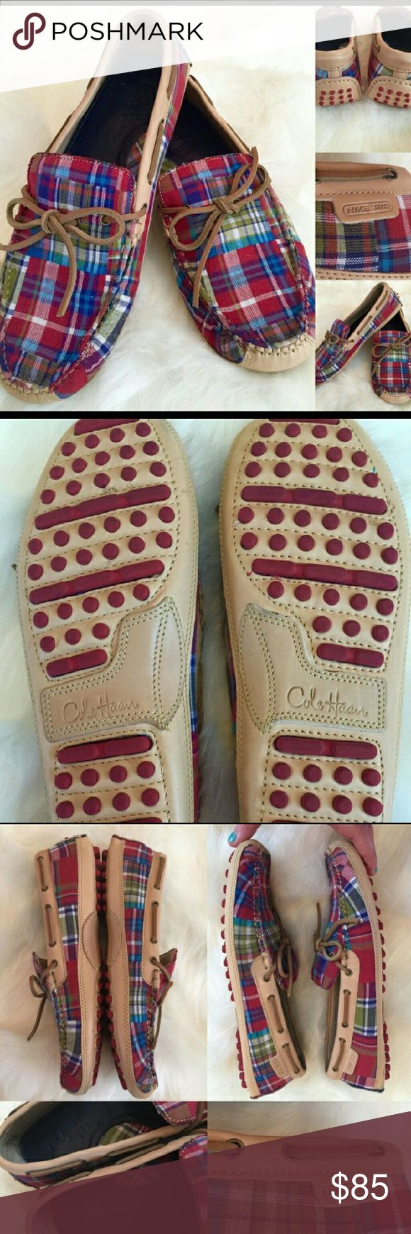 Cole Haan drivers Stylish, funky Cole Haan drivers with Nike Air soles. GUC lots of life left Cole Haan Shoes Loafers & Slip-Ons