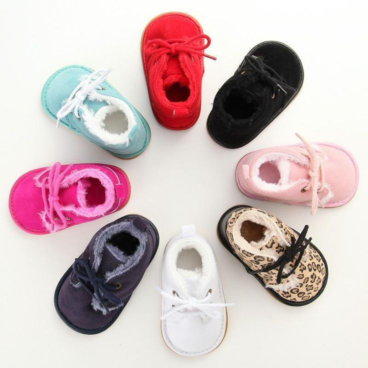 Baby Boots Girl Toddler Shoes Lace Up Girls Black Soft New Sneakers Winter Ankle #boysshoes #girlsshoes #kidsshoes #shoes #infantshoes #toddlershoes #babyshoes #baby #infant #toddler #Boots