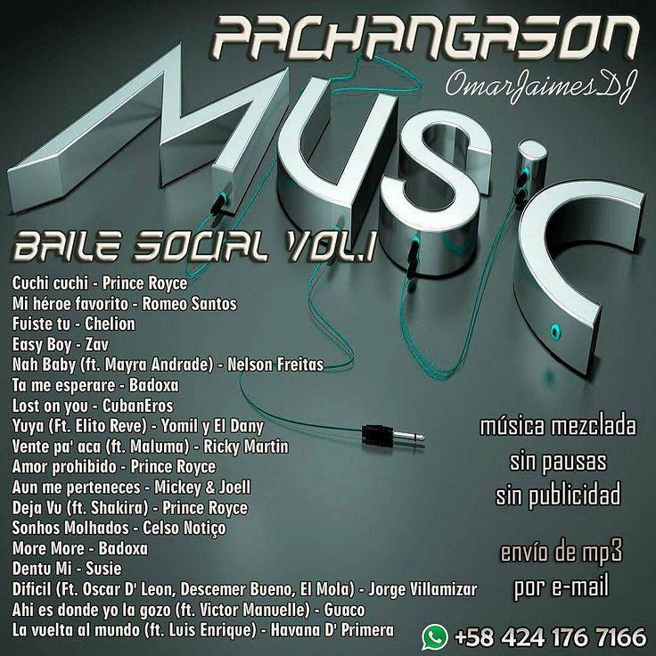 #PachangaSon #BaileSocial Vol.1 #TuDJSinDJ Música sin pausas ni publicidad Ideal para rumbas eventos reuniones locales comerciales. Pedidos directamente al Whatsapp 58 424 176 7166 Envíos por e-mail a cualquier parte donde te encuentres 1 set Bs 8K / 2 sets Bs 15K / 3 sets Bs 20K 4 sets Bs 25K /5 sets Bs 30K #bachata #kizomba #salsa #timba #music #musica #musically #mp3 #dj #mix #worldwide #argentina #chile #colombia #venezuela #españa - #regrann