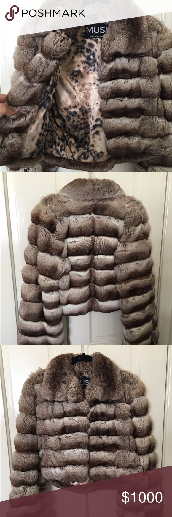 Chinchilla fur coat 4 years old and worn maybe half dozen times. Great condition, super soft and luxurious and warm! Very sexy worn casual or dressed up! Jackets & Coats