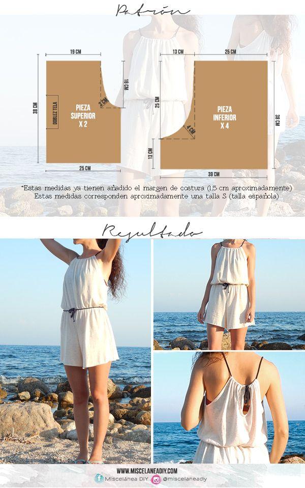 Patrón para hacer un enterizo con escote halter | Halter jumpsuit