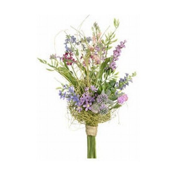 """(Artificial 12"""" Lupinus and Wild Flower Bouquet - Lavender & Pink"""