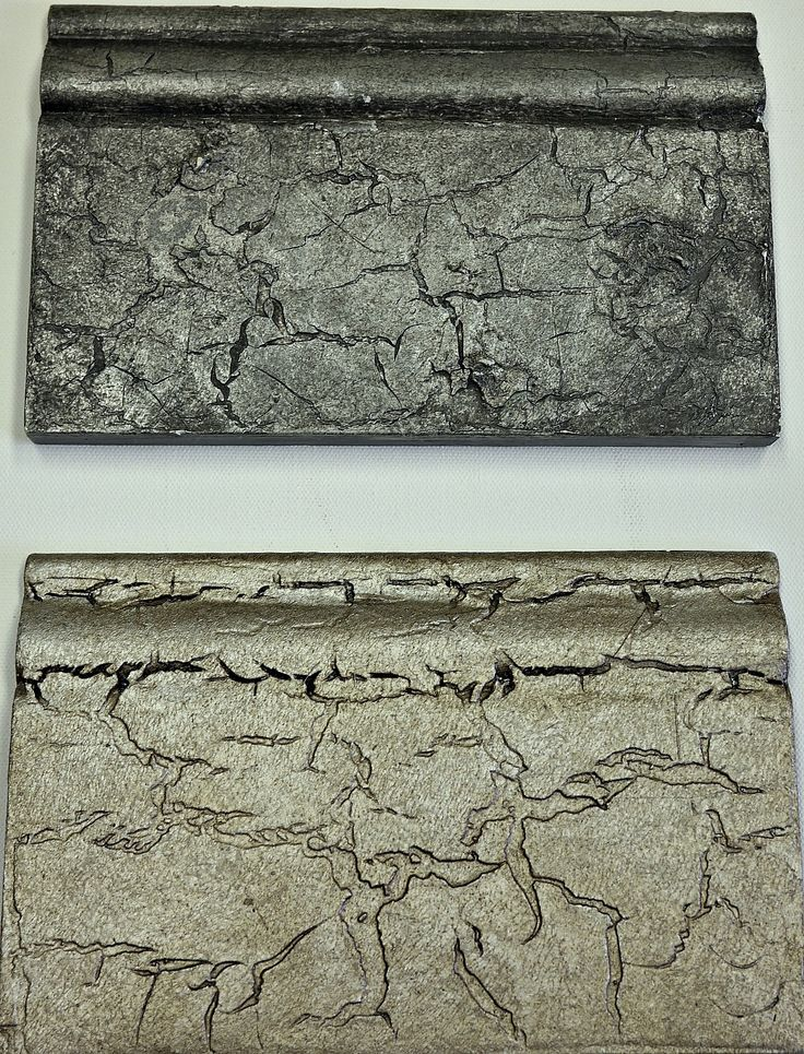 Crackle Tex VP Antico Pearl Plaster Dark wax (on bottom) Scumble & Graphite on top