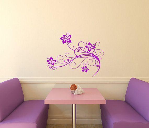 Muro decalcomanie floreali con fiori Home Vinyl Decal Sticker parete arte murale bambini vivaio bambino Room Decor 399