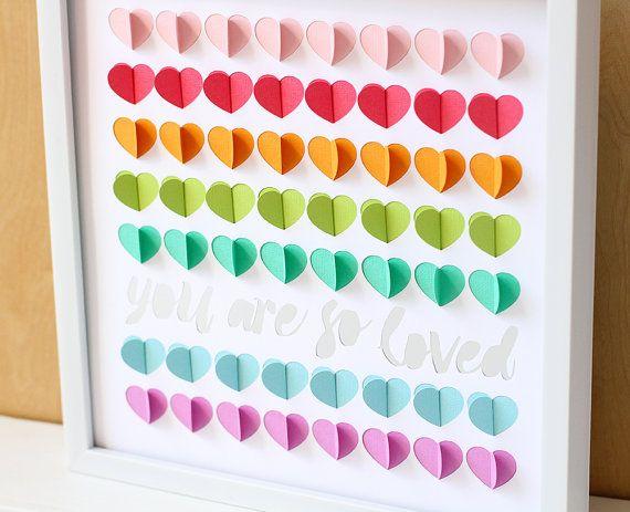 rainbow baby shower guest book rainbow nursery rainbow hearts baby shower sign in baby shower guestbook alternative 3d nursery art