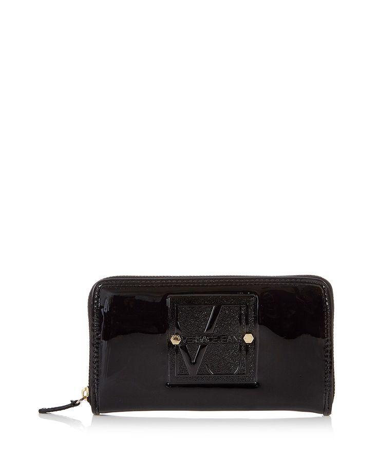 Black+logo+wallet+by+Versace+Jeans+on+secretsales.com