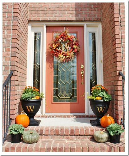 Front Porch Decorating: 73 Best Front Door/Porch Fall Decor Images On Pinterest
