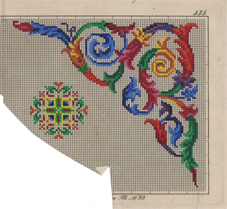 An Absolutely Gorgeous Colourful Berlin WoolWork Corner Pattern!