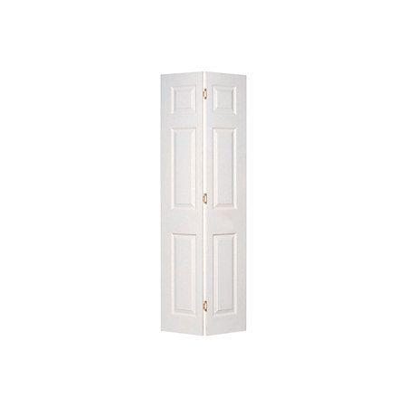 6 Panel Primed Woodgrain Effect Internal Bi-Fold Door, (H)1950mm (W)826mm | Departments | DIY at B&Q