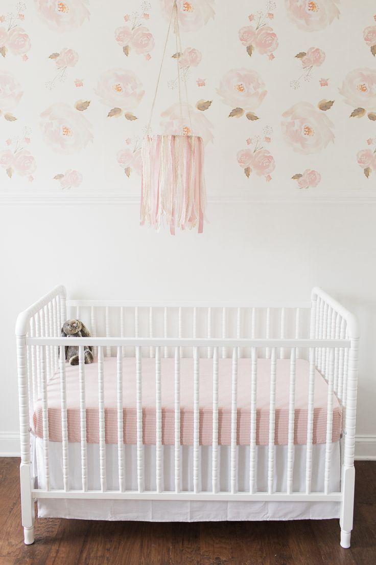 202 best color inspiration blush images on pinterest for Baby room wallpaper