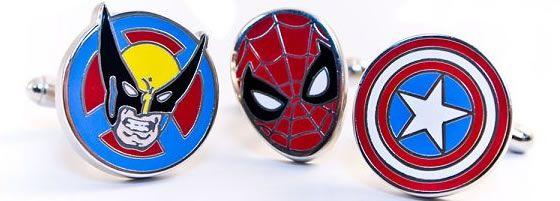Marvel Superhero Cufflinks $16