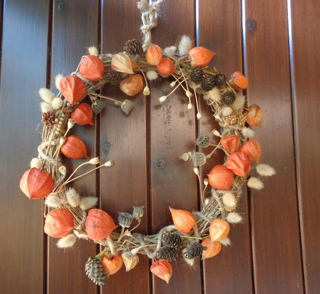 Una ghirlanda autunnale - Fall wreath https://lefotodiluisella.blogspot.it/2017/09/ghirlanda-autunno.html