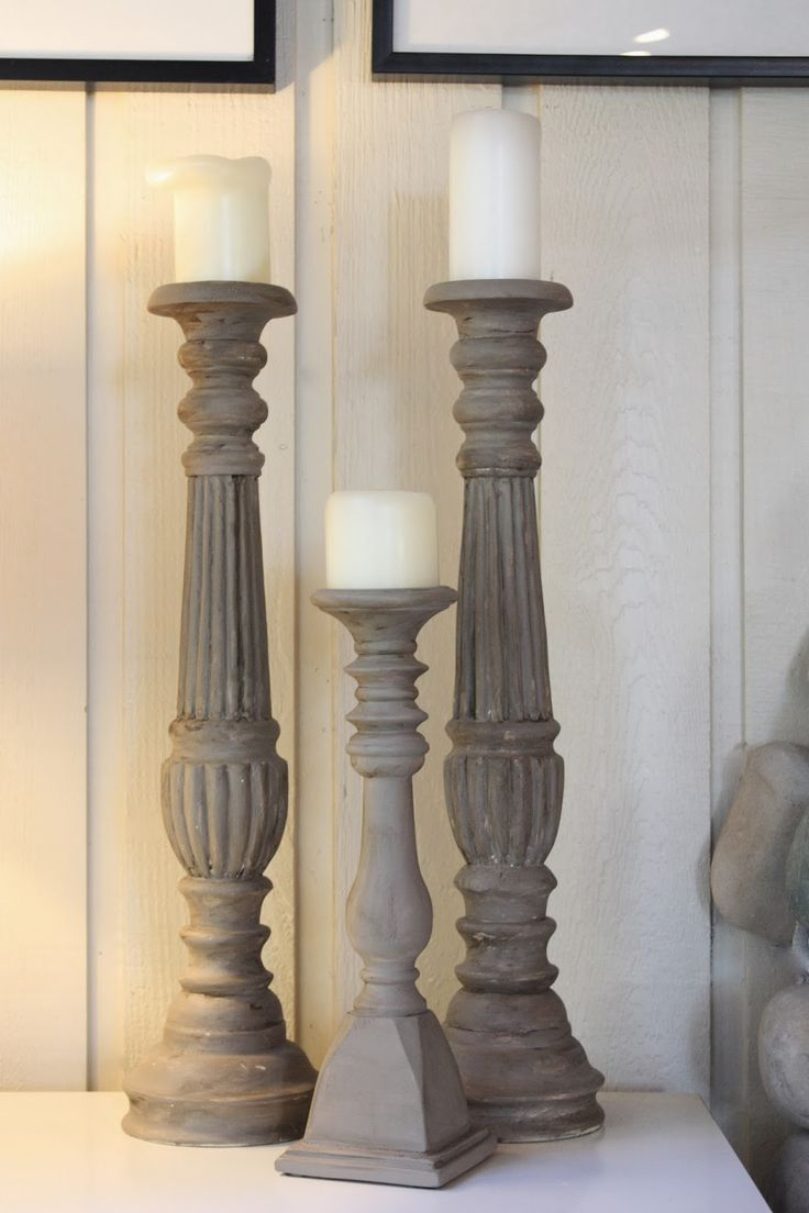 My Sweet Savannah: ~chalk painted candlesticks~