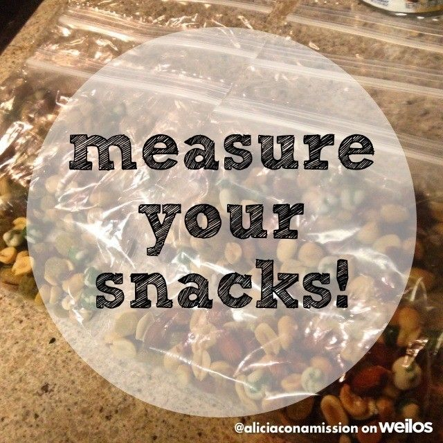 """I'm going to start measuring my snacks so I don't over eat on my """"portion size"""" that and this is convenience at it's best! Grab and go baggies :-)! 140 calorie a serving of wasabi pea trail mix"""