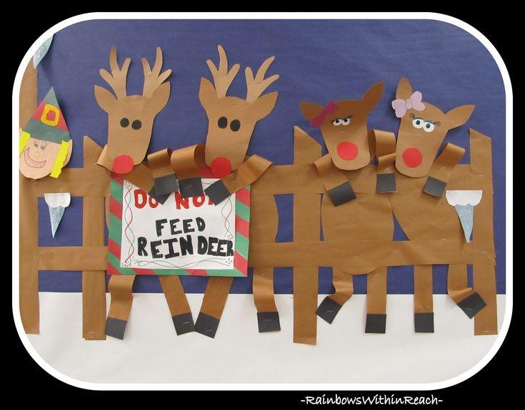 A Reindeer Chorus Line Bulletin Board (Christmas Bulletin Board RoundUP via RainbowsWithinReach)