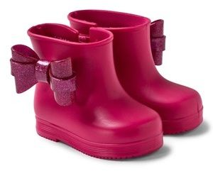 Mini Melissa Pink Mini Boot with Bow