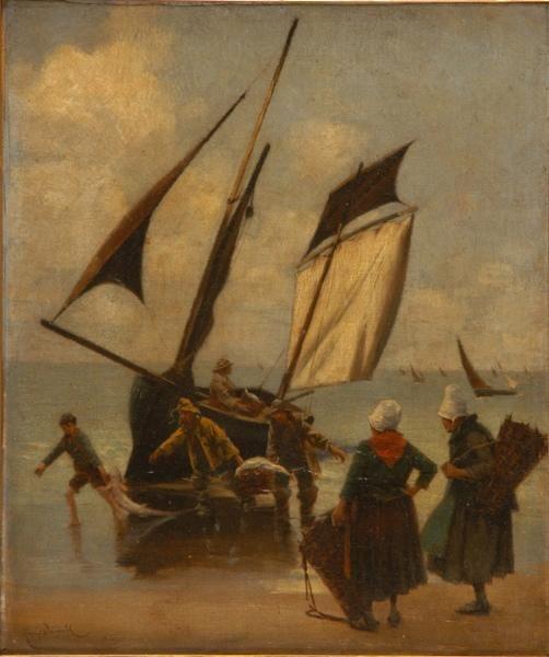 """""""Le Retour des Pêcheurs"""", 1885, Henry Detmold"""
