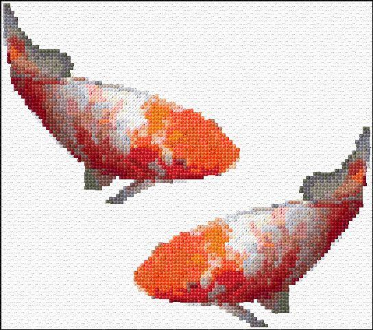 Cross Stitch   Koi Fish xstitch Chart   Design