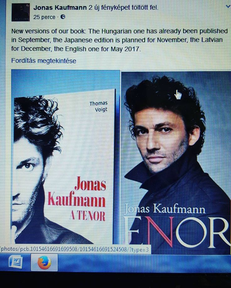 The news on the release of the Hungarian version (translated by me) has been posted on his official Facebook page. #jonaskaufmann #biography #book #opera #operastar #bookstagram #bookish #classicalmusic #mutimitolvasol #olvasnijó #olvasás #zene