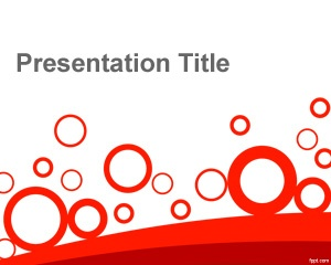 Abstract circles PowerPoint template is a simple abstract PowerPoint background slide design for simple presentations with circles art