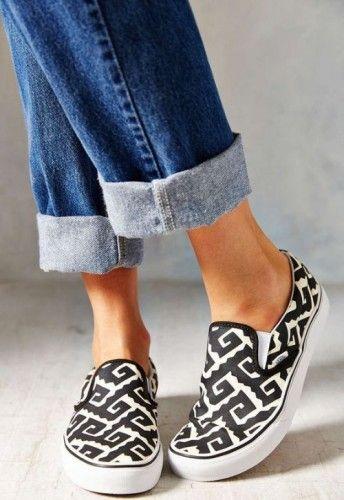 Vans  Women's Slip-On Sneaker- Slip on shoes fashion trend http://www.justtrendygirls.com/slip-on-shoes-fashion-trend/