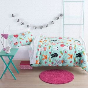 Hip Bunnies Duvet Cover Set by Squiggles