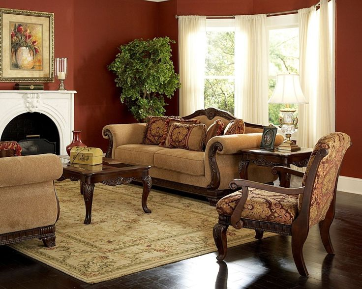 Amazing Burgundy And Gold Living Room Decor