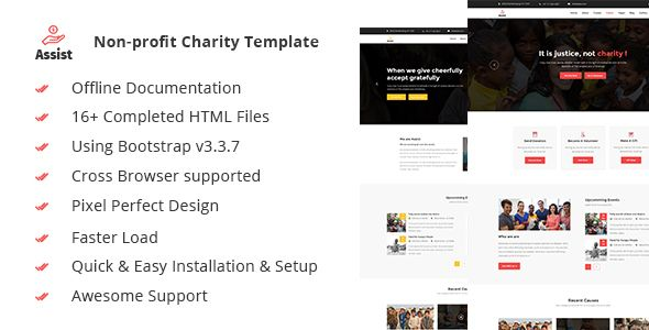 awesome Help- Charity, Donation &amp Nonprofit HTML5 Template (Charity)