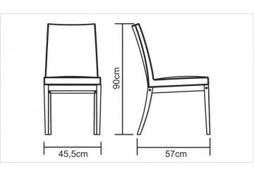 Cadeira sem braços Fibra Bege - Salão de festas - Compre móveis de madeira na Loja virtual da Tramontina
